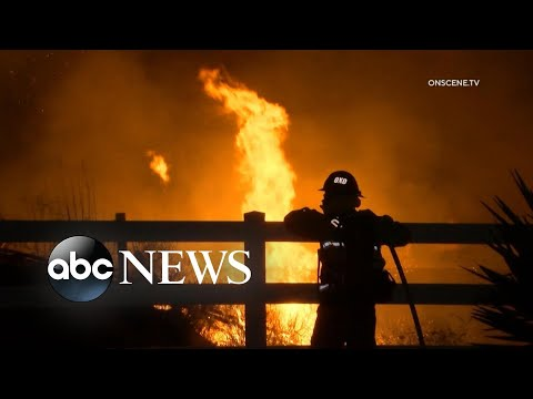Santa Ana wind event in California sparks fast-moving Maria fire