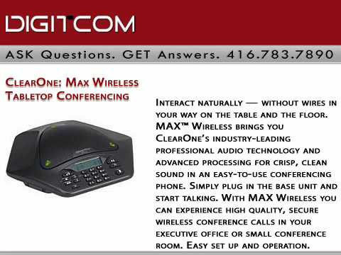 ClearOne Max Wireless Tabletop Conferencing | Digitcom.ca | Business Phone Systems