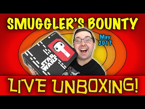 Thumbnail: LIVE UNBOXING! Smuggler's Bounty May 2017 - 40th Anniversary - #Funko #StarWars REPLAY!