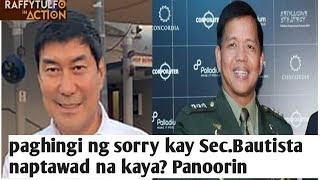 Erwin Tulfo nag public apology tinangap ba ni Sec.bautista | Panoorin