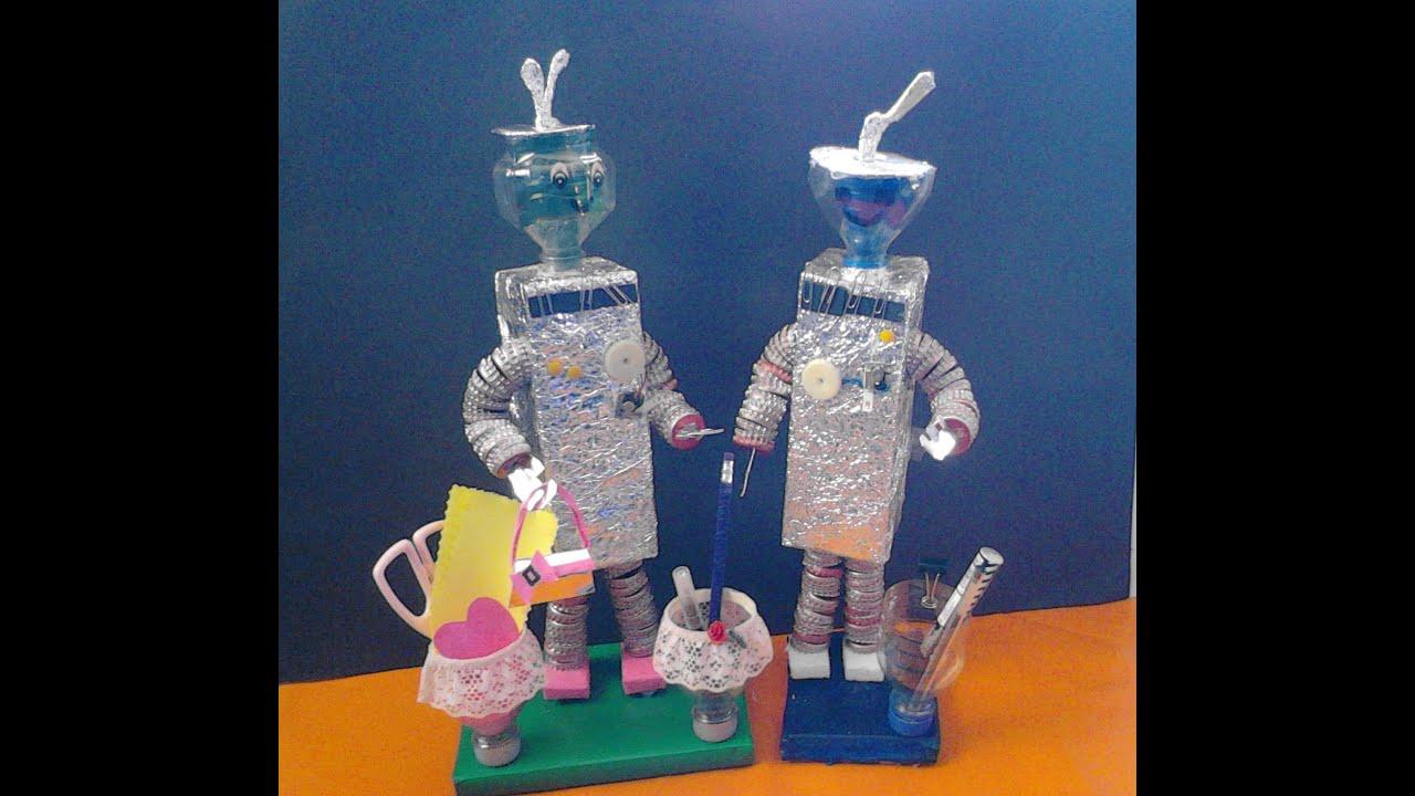 Como Hacer Un Robot Con Material Reciclable