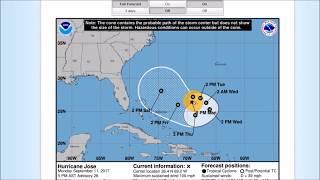 Tropical Update 9/12/17 - Hurricane Jose
