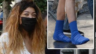 Sickly Looking Wendy Williams Caught Wearing HOSPITAL SOCKS In NYC Streets After Announcing Hiatus