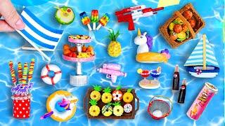 27 DIY MINIATURE IDEAS FOR DOLLHOUSE BARBIE ~ POOL PARTY