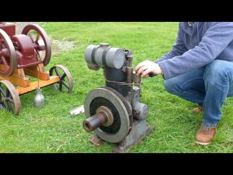 Stationary Engine Crank Up! Sattley Open Crank & 2 Stuart Turner.