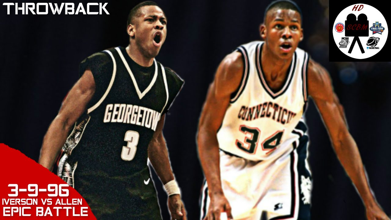 new style 115d4 23cbf Allen Iverson vs Ray Allen Big East Final Full Highlights (3-9-96) EPIC  BATTLE, MUST SEE!