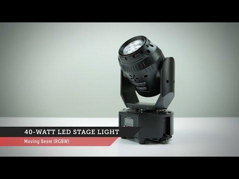 40-watt, Moving LED Stage Light | Monoprice Quick Look