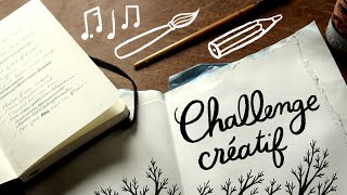 Taking part to a creative challenge (drawing, writing and music)