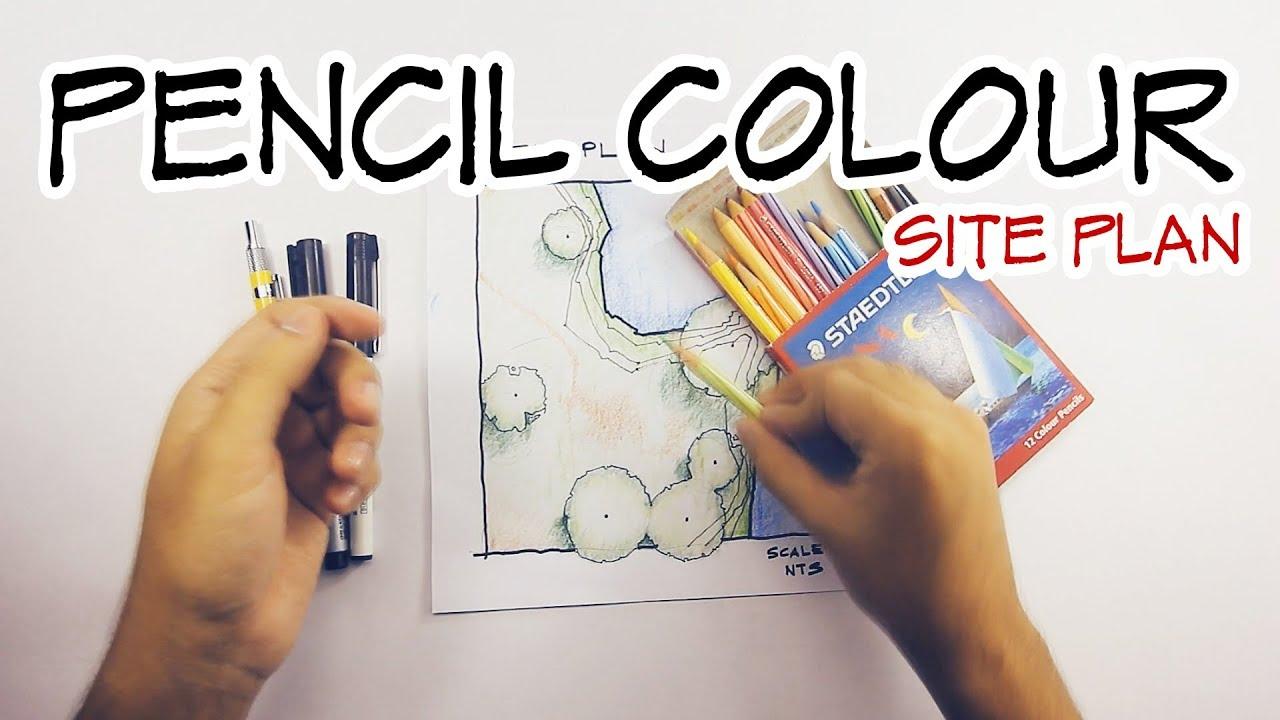 Color pencil technique architecture daily sketches