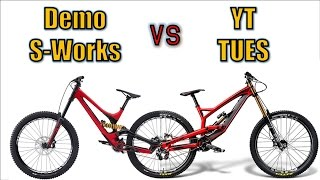 Demo S-works vs YT Tues (2016, 650B)