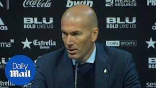 Real Madrid manager Zinedine Zidane on 4-1 win over Valencia - Daily Mail