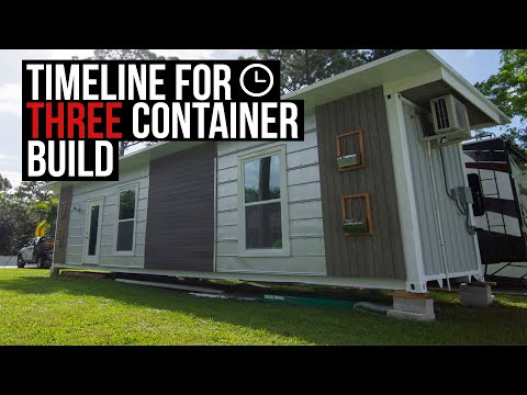 3 Container Home Timeline | Permits, Site Work, Structure, Finishing