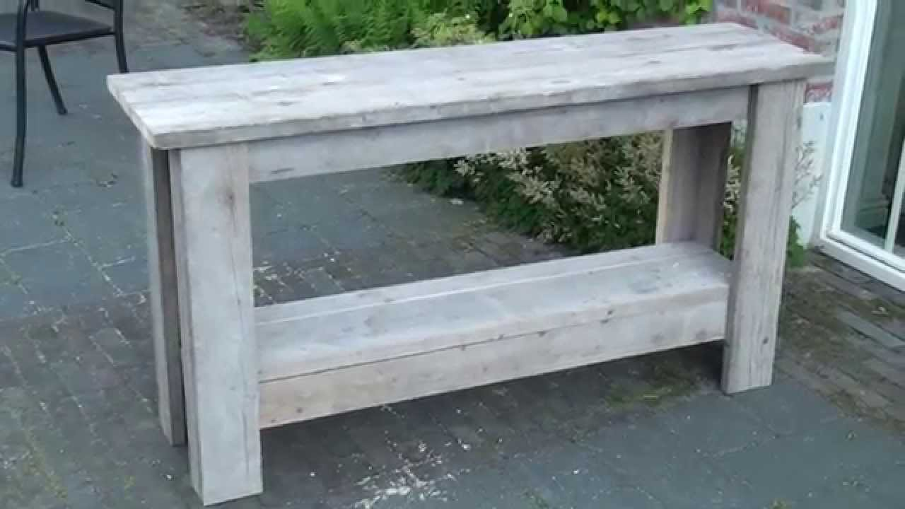 Side Table Voor Buiten.Hoe Maak Je Een Sidetable Van Steigerhout