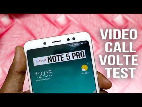 Redmi Note 5 Pro video call test,VOLTE Test With Jio Sim in Hindi