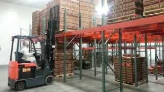 Zero Incline Horizontal Pallet Flow Rack Storage & Retrieval System