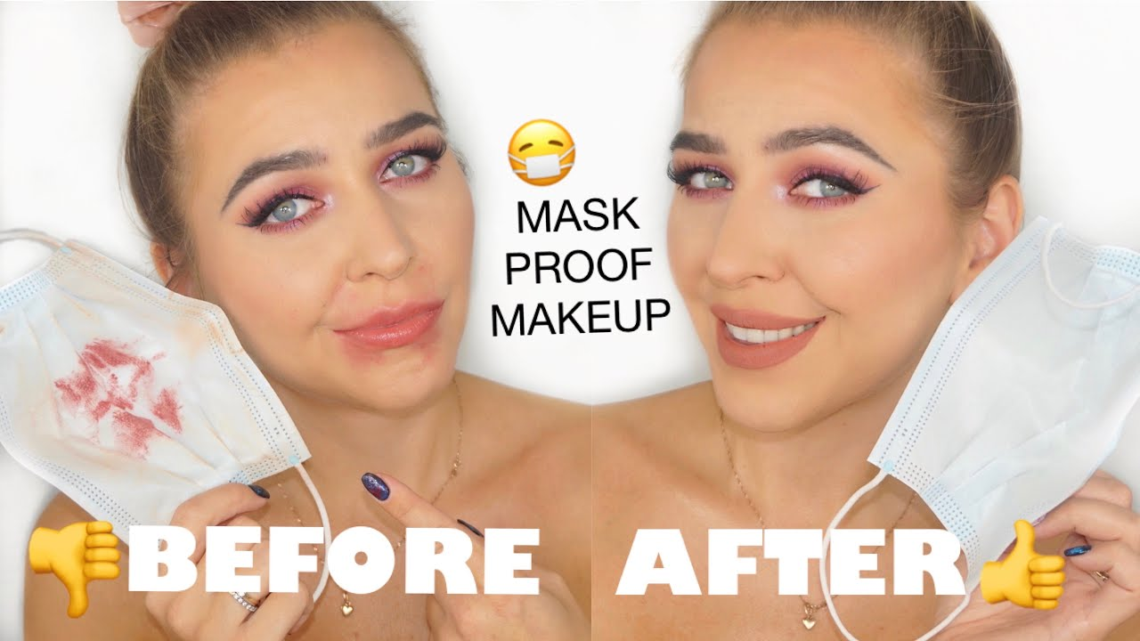 How to avoid SMUDGING FACE MASK friendly makeup