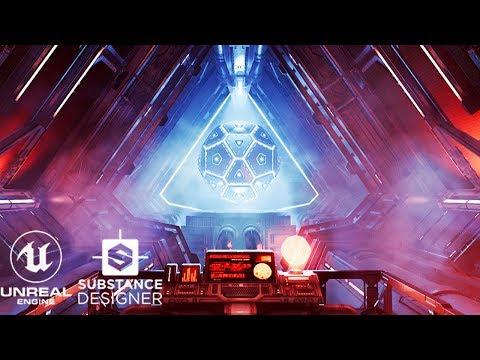 Into The DataCore - UE4/Substance Designer Scifi Environment