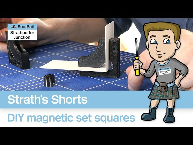 How to Make Magnetic Set Squares - DIY for Railway Modellers (3D-Printing)