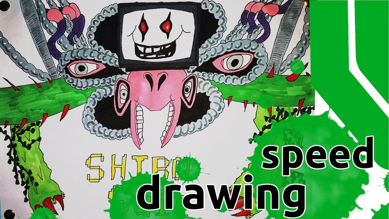 Speed Drawing Omega Flowey Undertale Youtube