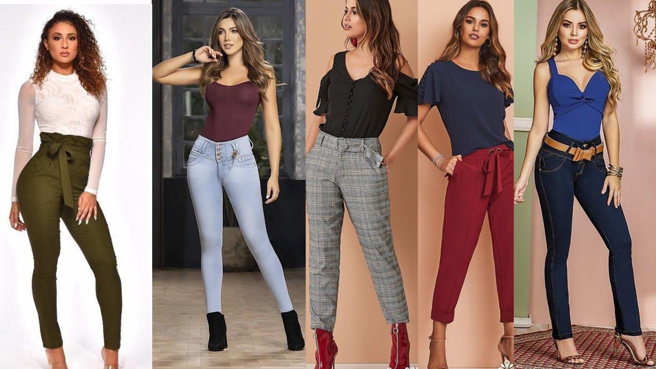 Looks De Pantalones De Tiro Alto A Quien Le Queda Bien Youtube
