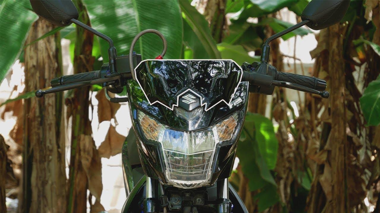 Raider 150 Fi Blue >> sgp visor and titanium blue lever bolts raider 150 fi thaiconcept project - YouTube