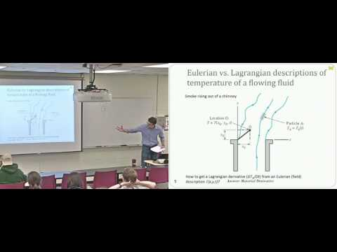 Lecture 09  The Velocity Field and Material Derivative Video and Slides Enhanced Quality