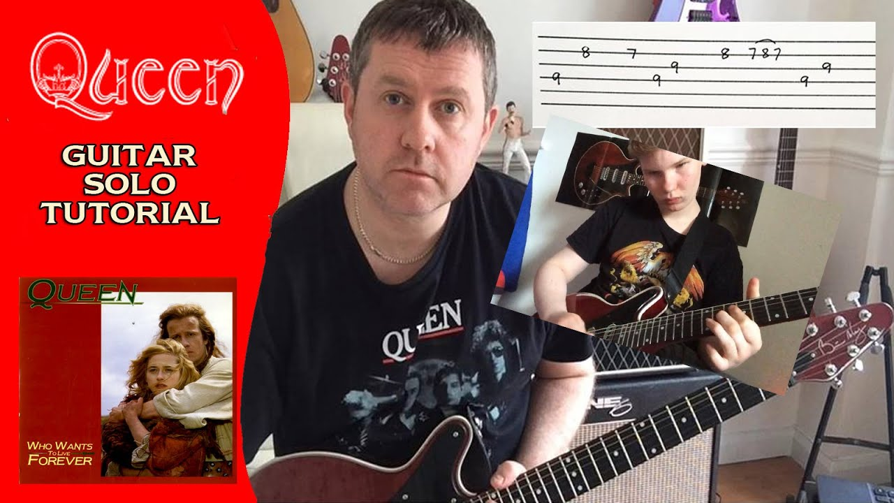 Queen - Who Wants To Live Forever - Guitar Solo Tutorial - Feat Alfie Smith