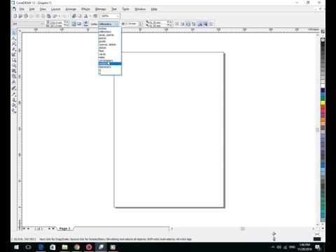 How to set paper size A4 in Corel Draw