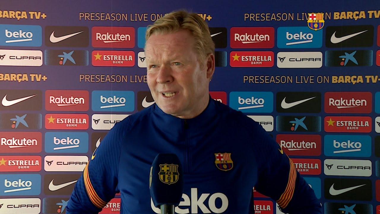 """Koeman: """"Messi es el mejor y ojalá pueda repetirlo esta temporada"""""""