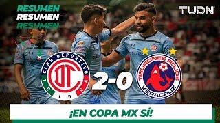 Resumen y Goles | Toluca 2 - 0 Veracruz | Copa MX - Apertura 2019  - Jornada 5 | TUDN