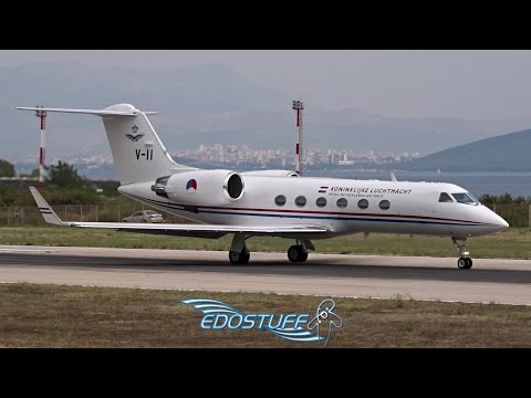 Royal Netherlands Air Force - Gulfstream G-IV V-11 - Takeoff from Split Airport LDSP/SPU