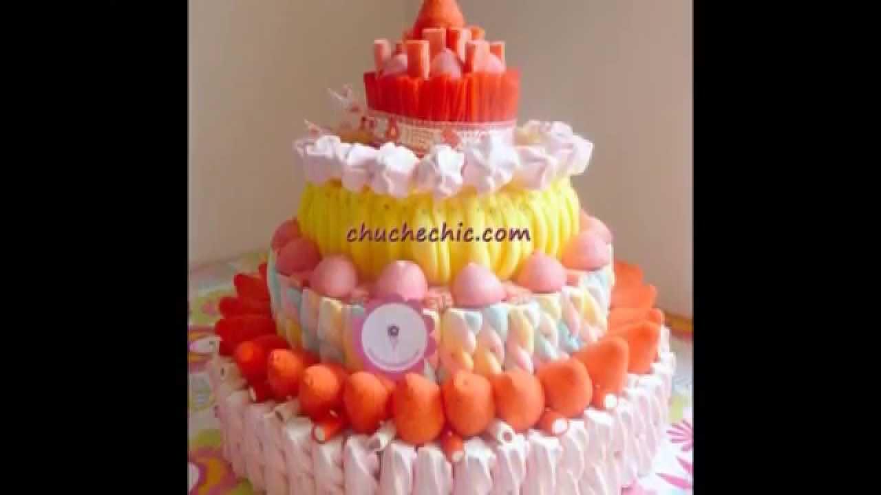 Tartas de chuches tartas de gominolas - Como hacer figuras con chuches ...