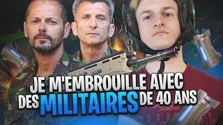 JE M'EMBROUILLE AVEC DES MILITAIRES DE 40 ANS SUR FORTNITE