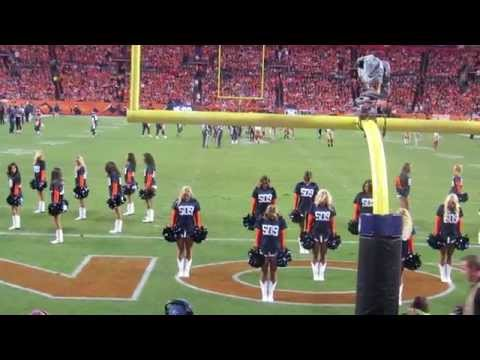 Denver Broncos Cheerleaders Celebrate Peyton Manning