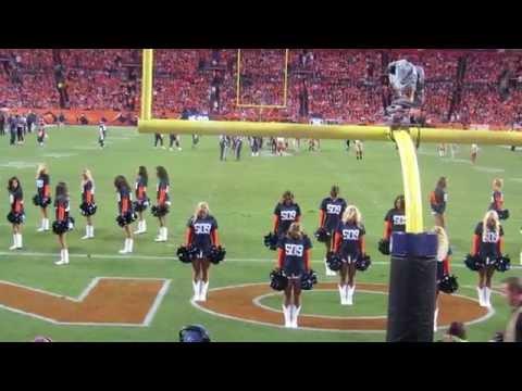 Denver Broncos Cheerleaders Celebrate Peyton Manning