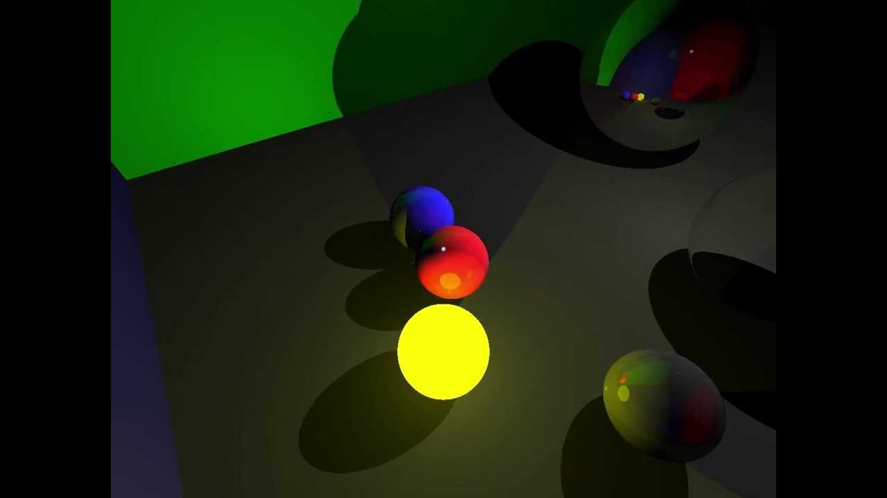 Real Time Raytracing with GLSL Shader by Sean Chan
