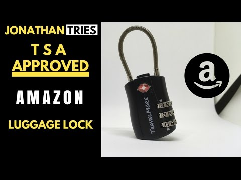 AMAZON TSA APPROVED LUGGAGE LOCK REVIEW
