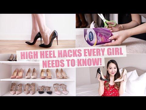HIGH HEEL HACKS EVERY GIRL *NEEDS* TO KNOW!