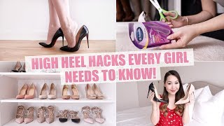 HIGH HEEL HACKS EVERY GIRL *NEEDS* TO KNOW!