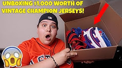 UNBOXING $1,000 WORTH OF VINTAGE CHAMPION JERSEYS!