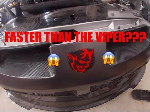 SRT 4 Demon Neon finally running! FASTER THAN THE VIPER???