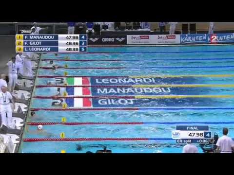 Doublé français Final 100m nage libre - Berlin 2014