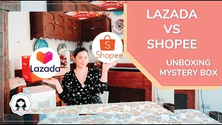 LAZADA VS SHOPEE | UNBOXING P1,500 - P2,000 MYSTERY BOX