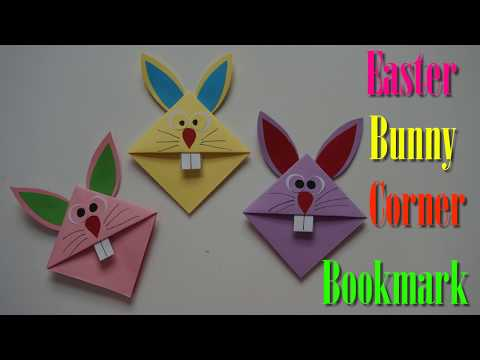 Easter Bunny Corner Bookmark Paper Craft For Kids