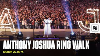 Anthony Joshua's Ring Walk Is An instant Classic
