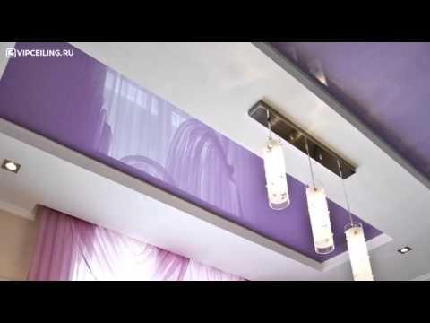 видео: Натяжные потолки на кухне
