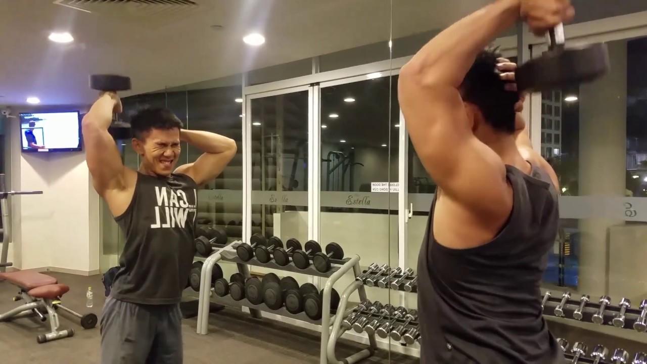 Bài Tập TAY SAU Chuẩn Nâng Tạ Đơn Qua Đầu Từng Bên HLV Ryan Long Fitness -  YouTube