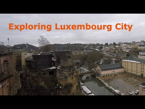 Exploring Luxembourg City ( Notre-Dame Cathedral, Grund, Casemates du Bock )