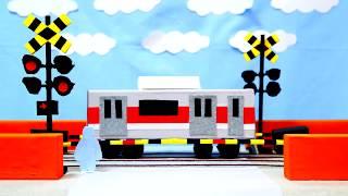 踏切アニメ【BGMちょうちょう】Anime of the railroad crossing thumbnail