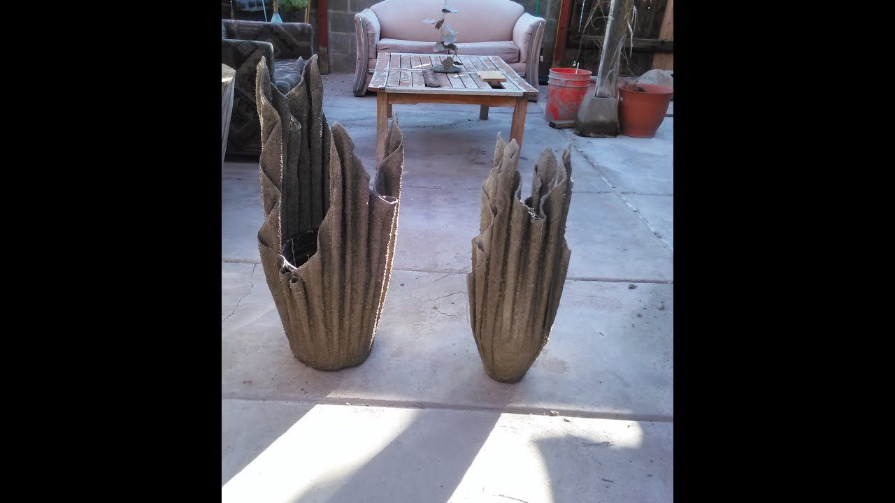 Diy Cement Planters Youtube